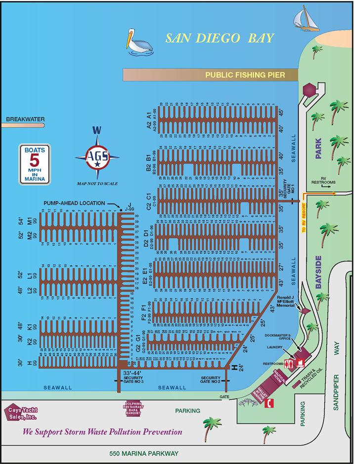 Slip Fees & Amenities | | Chula Vista Map on